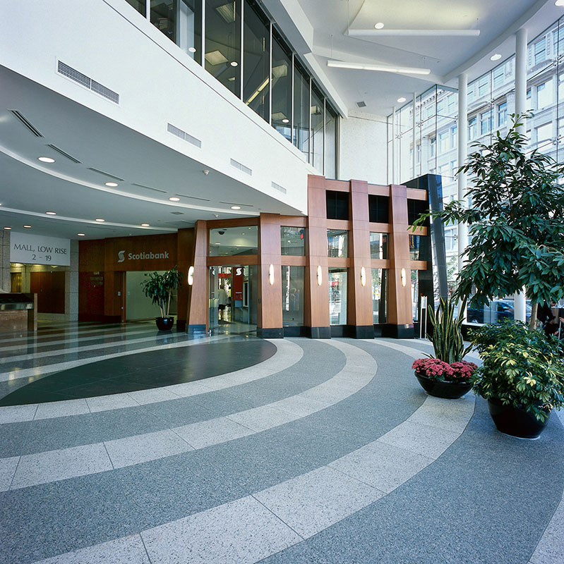 lobby of 650 west georgia street vancouver
